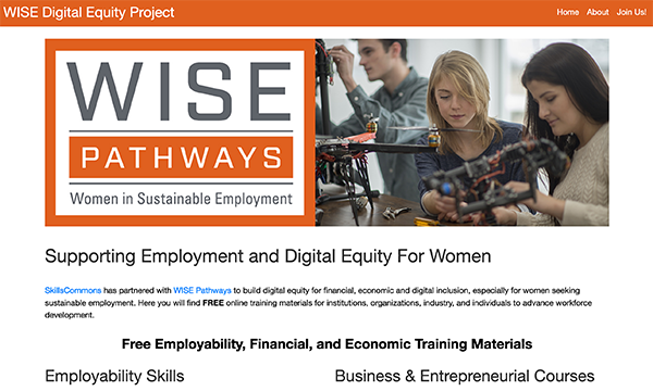 Employment Equity Portal:  Women in Sustainable Employment (WISE) Pathways